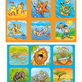 illustrated memory cards