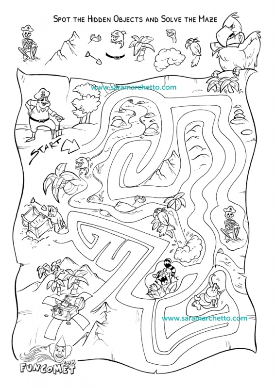 line art illustrations for kids activity sheets