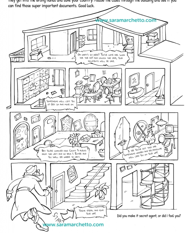 line art illustrations for kids activity sheets | Black and